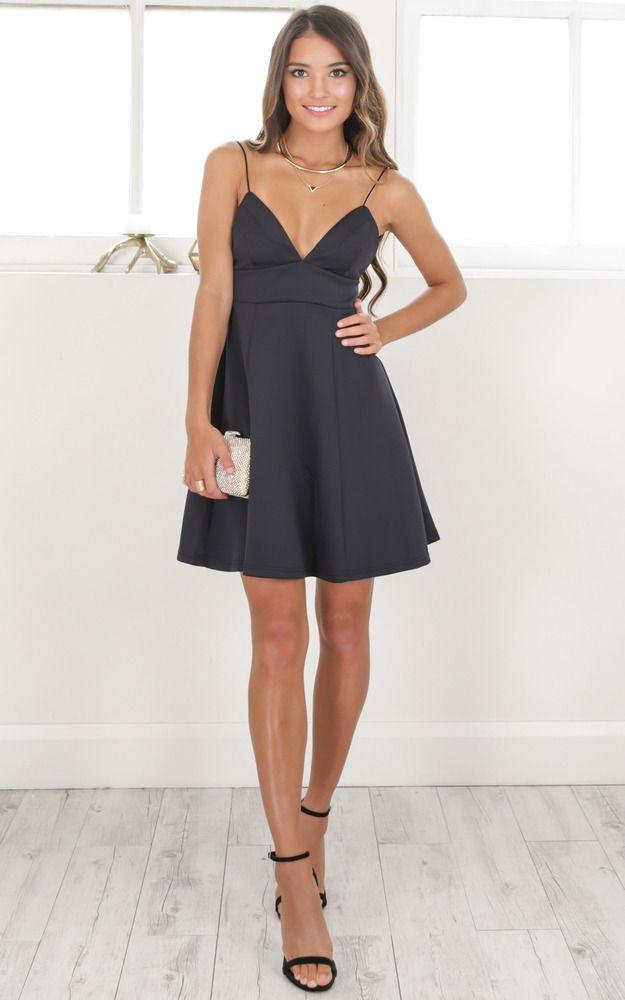 showpo, showpo dress, black, black dress, dress
