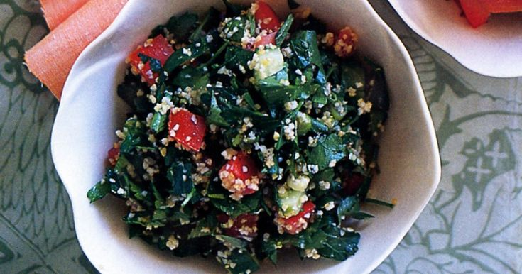 This burghul salad is a great accompaniment to barbecued lamb.