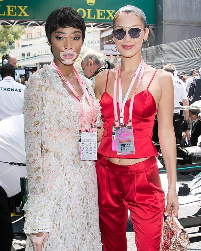 #WinnieHarlow and #BellaHadid take the Formula One Monaco Grand Prix   via ELLE CANADA MAGAZINE OFFICIAL INSTAGRAM - Fashion Campaigns  Haute Couture  Advertising  Editorial Photography  Magazine Cover Designs  Supermodels  Runway Models