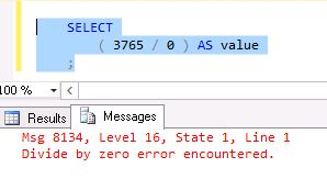 Code Your Way Corner Handle Divide-By-Zero Error In SQL