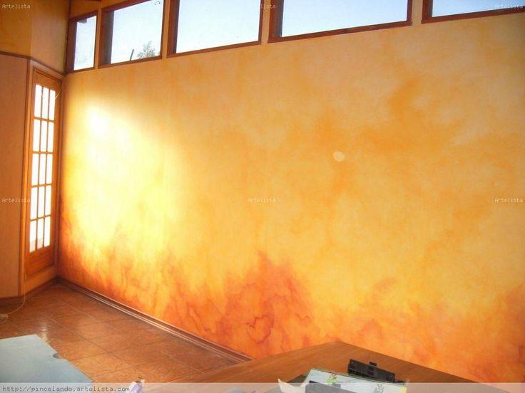 Tecnicas decorativas en paredes buscar con google - Tecnica para pintar paredes ...