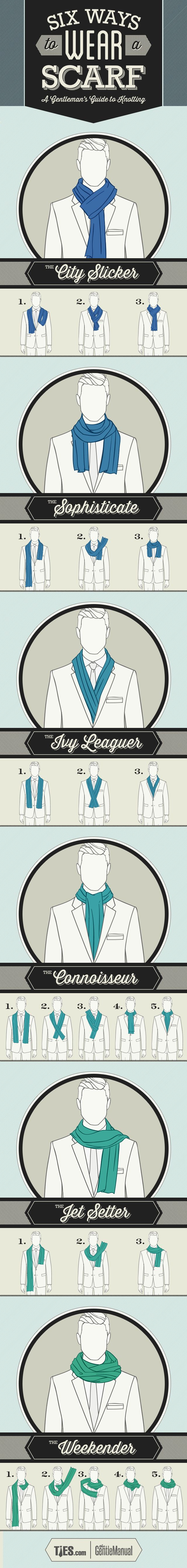 6 Ways to War a Scarf - A Gentleman's Guide to Knotting. TheGentleManual.com