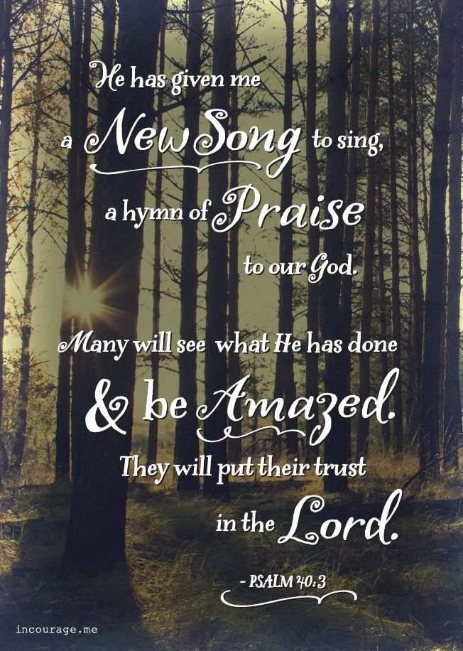 A New Song, A Hymn of Praise - incourage.me - Psalm 40:3 - Coming Soon NEW (in)courage Art Prints
