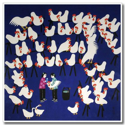 Chinese folk art, Chickens
