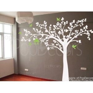 Maternity Photos: Wall Art, Wall Decals, Home Decor, Trees Decals, White Trees, Big Trees, Baby Rooms, Art Wall, Kids Rooms