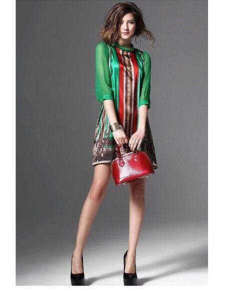 robe foulard courte