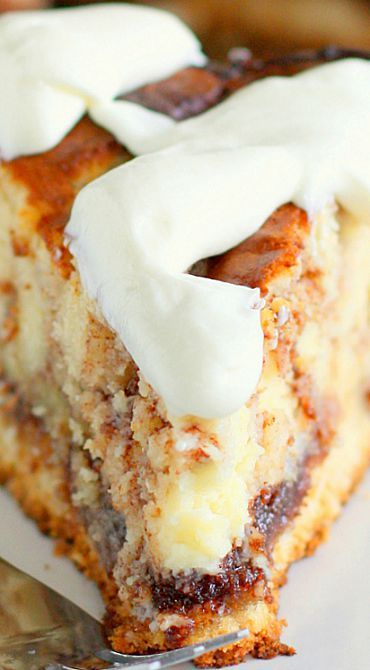 Things that look good to eat: Cinnamon Roll Cheesecake