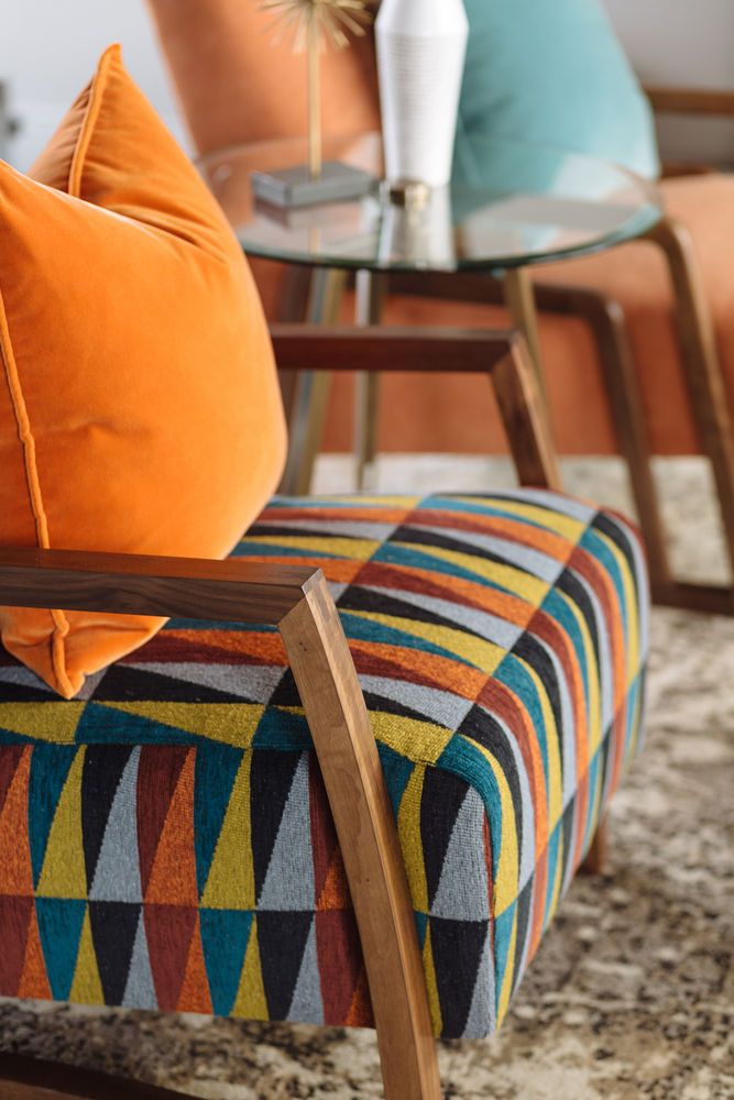 Geometric Patterned Modern 28 Chair Mathis Brothers Furniture
