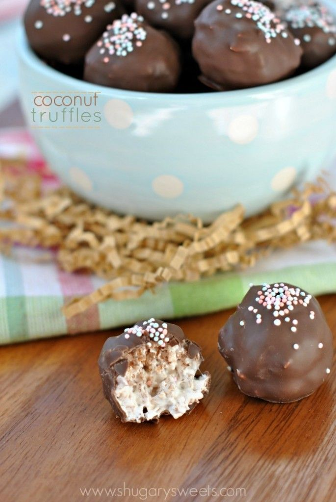Coconut Truffles - Shugary Sweets #desserts #dessertrecipes #yummy #delicious #food #sweet