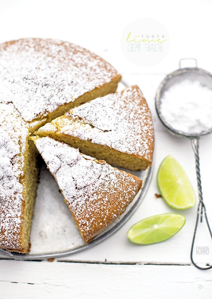 lime and sour cream cake by www.pane-burro.blogspot.it