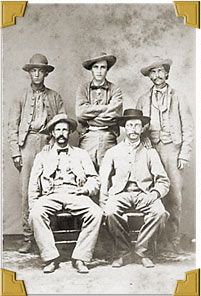 Five unidentified Confederate soldiers.