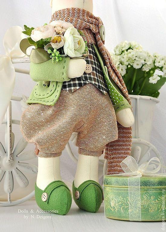 Купить Весенний кролик Оливер и шкатулка с секретом - игрушка заяц, зайцы, зайки, зайка, кролик