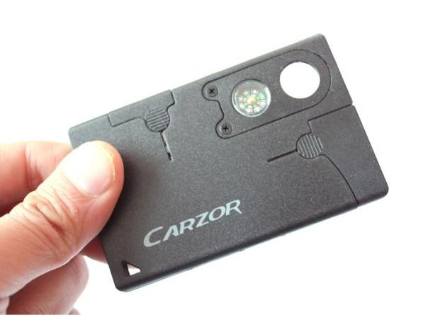 The Credit Card Companion is so light and slim that you'll barely know you have it, yet when needed you'll find it's amazingly useful. The 2-inch stainless blad