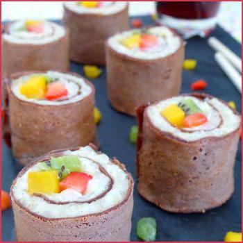 Sushis sucrés aux fruits
