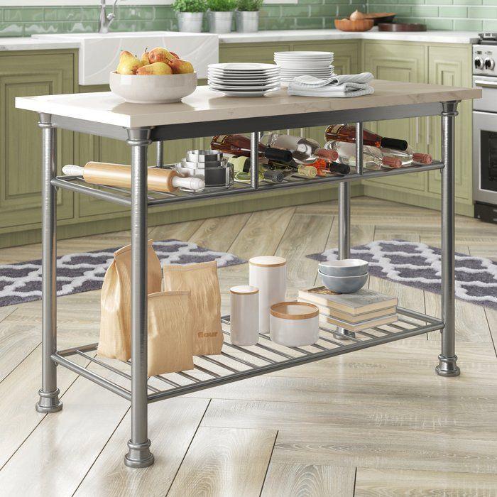 Trent Austin Design Haleakal Prep Table With Quartz Veneer Top Reviews Wayfair Furniture Kitchen Style Kitchen Cart