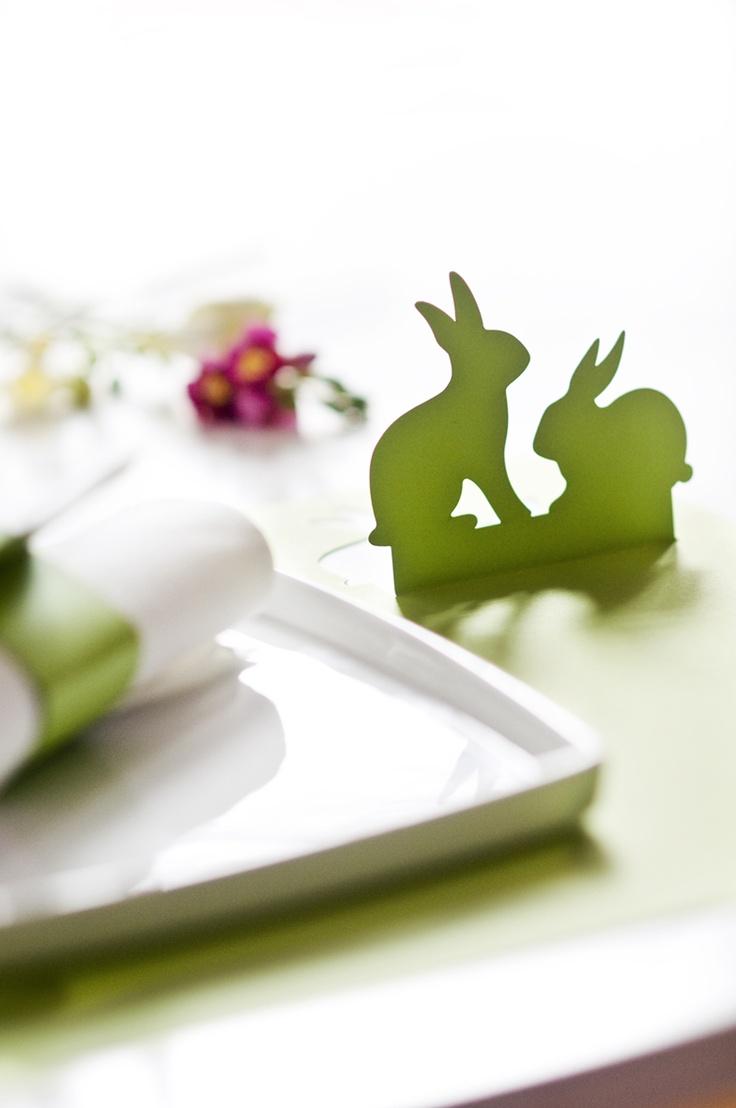 Easter bunnies lasercut placemat  www.karcsipapir.hu