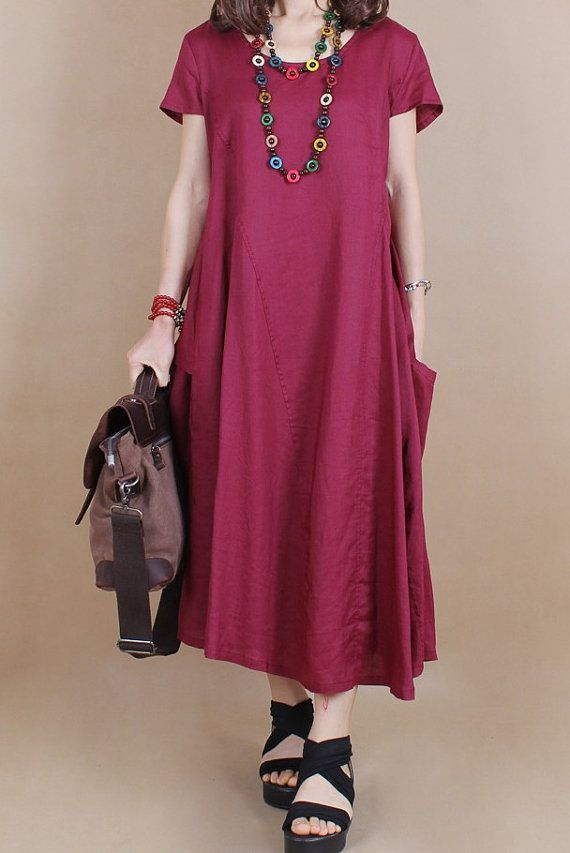 Maxi Dress Loose Fitting Sundress Short Sleeve Summer Dress (more colour and size choice)