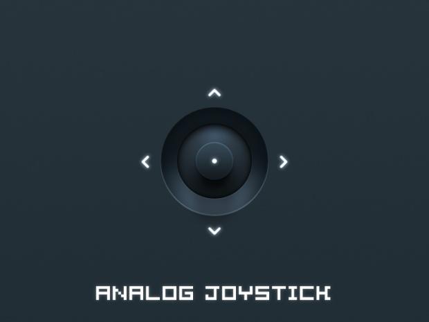 #Analog #Joystick, #Free, #PSD, #Resource, #Retina