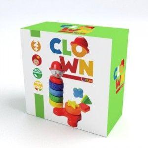 Composto da 13 elementi di differenti forme e colori, Clown stimola la curiosità del bambino. La prima fase d'uso consiste nell'apprendimento di forme e colori, successivamente il bambino cominciando ad associare i pezzi correttamente riscopre il gusto della verifica e la soddisfazione di comporre interamente il Clown. http://www.ilmelograno.net/it/ludus-giochi/302-clown-8009971302337.html