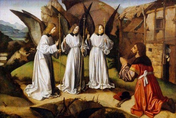 Йос Лиферинкс. Авраам и три ангела. 1495-1500 гг.