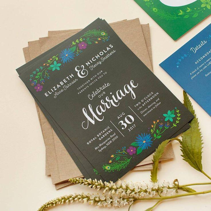"160 gilla-markeringar, 7 kommentarer - Paperlust (@paperlust.co) på Instagram: ""@happypearpress  we love your tropical wedding invites 📷 @misshanue #paperlust #paper #print…"""