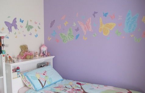 13 best images about jersie 39 s room on pinterest wall for Butterfly bedroom ideas