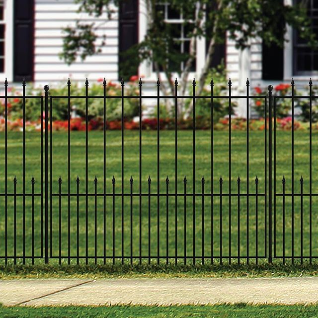 Grand Empire Xl Fence System Available At Lowes No Digging Required Quick And Easy Installation Decorative Fence Panels Post And Rail Fence Fence Panels