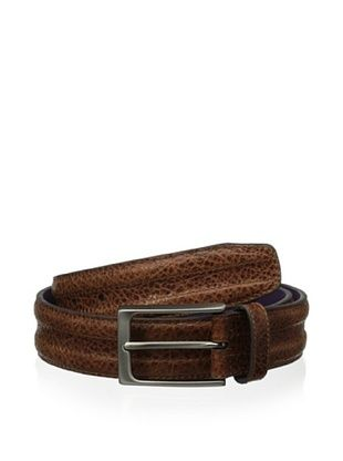 48% OFF Ike Behar Men's 35mm Trapunto Belt (Tan)