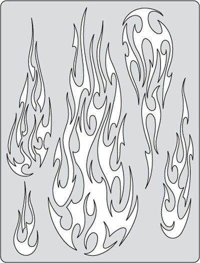 Flame stencil.