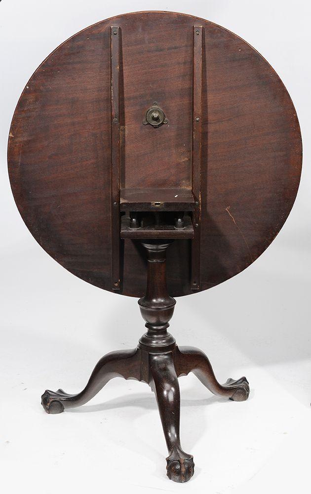 Brunk Auctions North Carolina Chippendale Mahogany Tilt