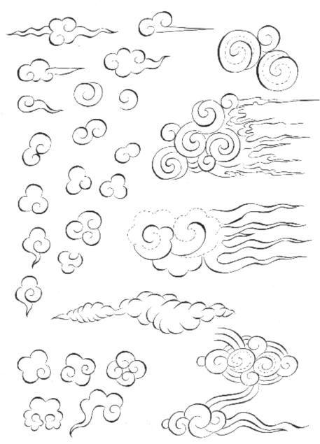 Cahide Keskiner - Minyatür Sanatında Doğa Çizim ve Boyama Teknikleri Minyatürde kullanılan çeşitli bulut çizimleri