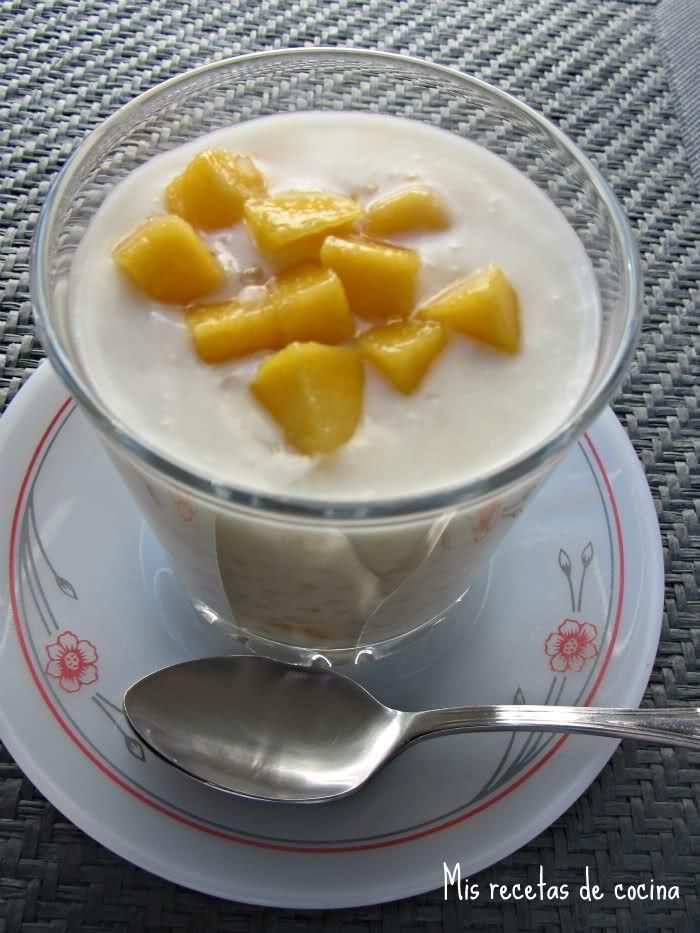 Mis recetas de cocina: Perlas de tapioca con leche de coco y mango