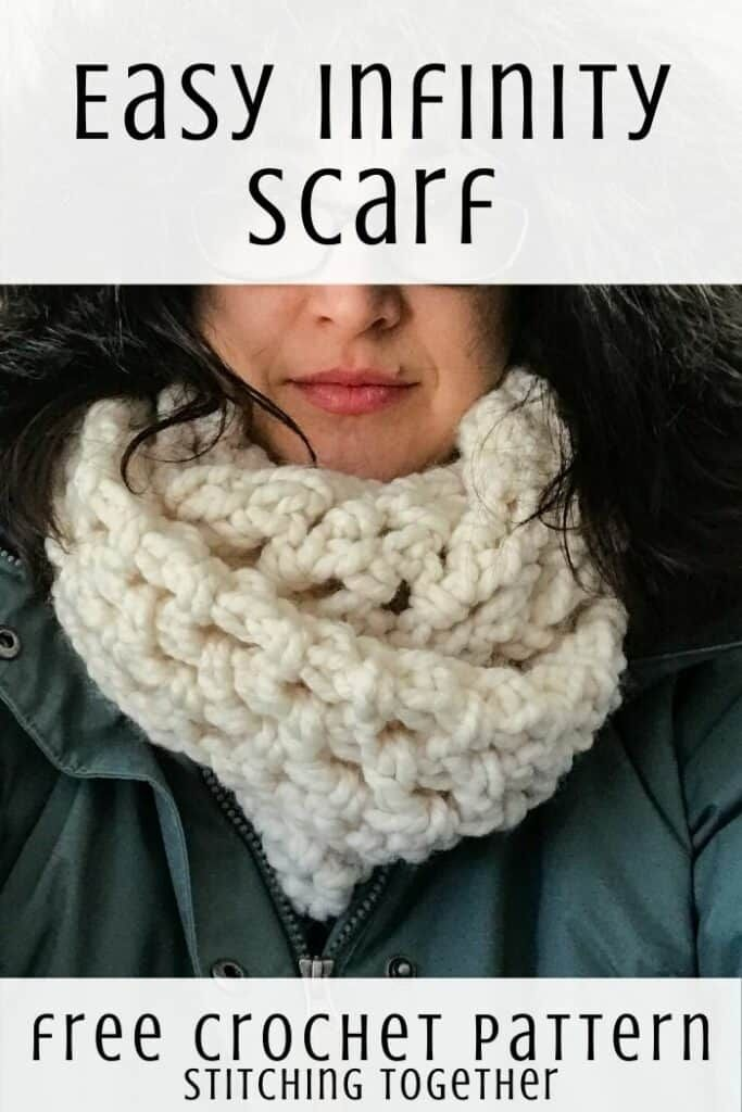 Easy Crochet Infinity Scarf Snowfall Scarf Crochet Infinity Scarf Crochet Infinity Scarf Pattern Chunky Crochet Scarf