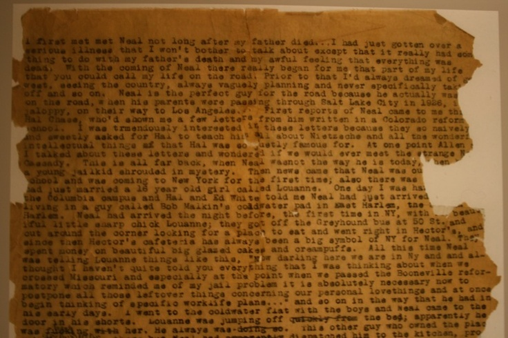 On the road... original paper of Jack Keruac