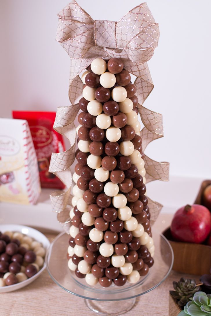 Learn how to make this stunning @Lindt_Chocolate edible truffle tower!