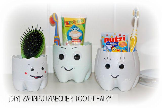 DIY Zahnputzbecher aus Plastikflaschen selbstgemacht