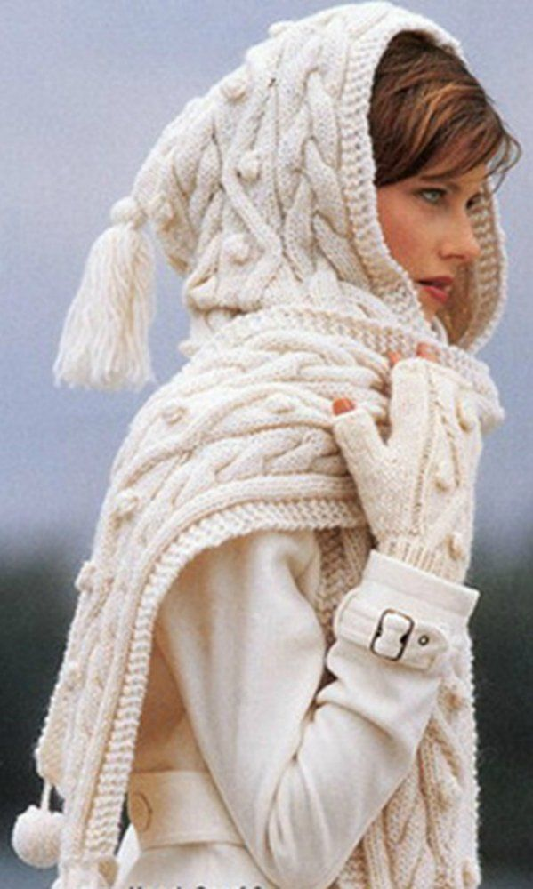 Love this scarf/hat.