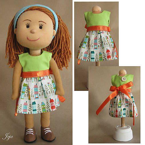 babikajeja / Domčekové šaty pre bábiku