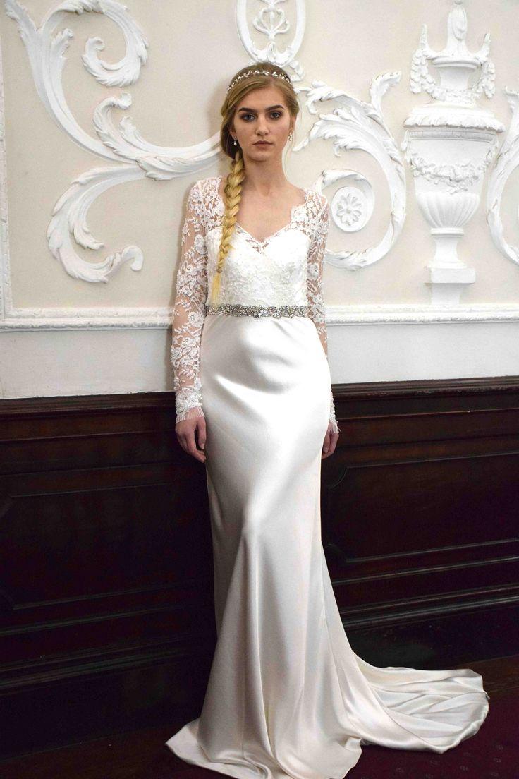 Edwina Arya Lake Gown with Jewel Belt www.edwinaarya.com #edwinaarya #bridalcouture #weddingdresses