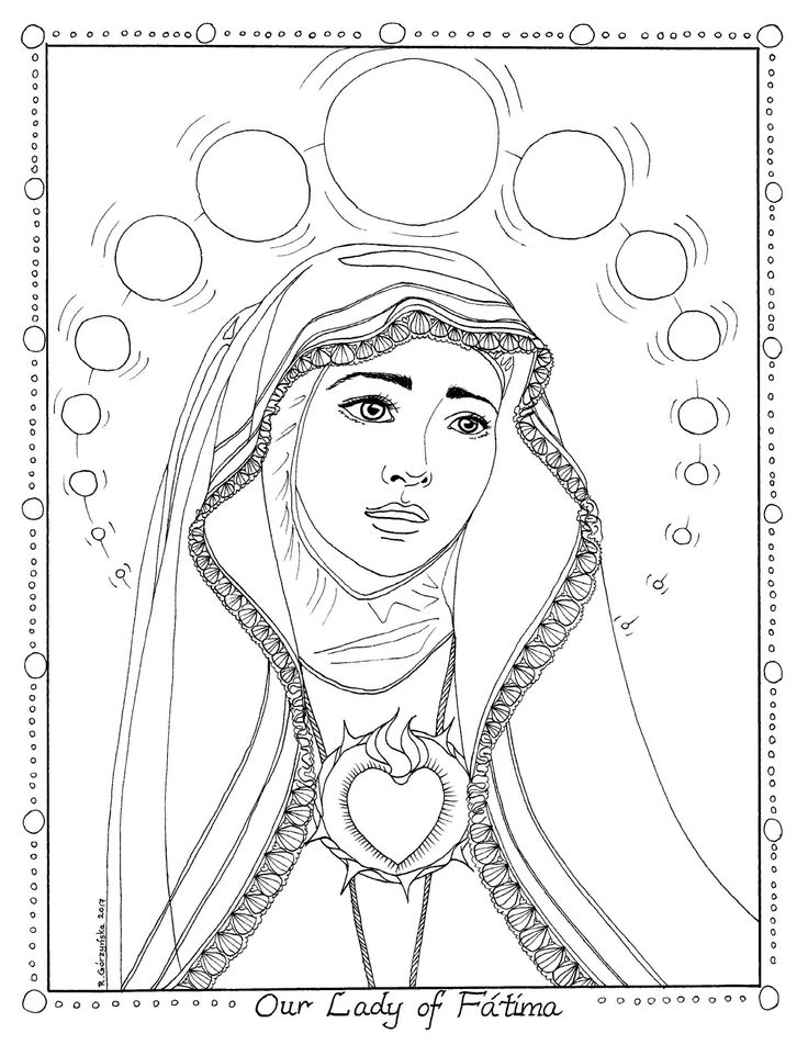 catholic kids coloring pages mary - photo#16