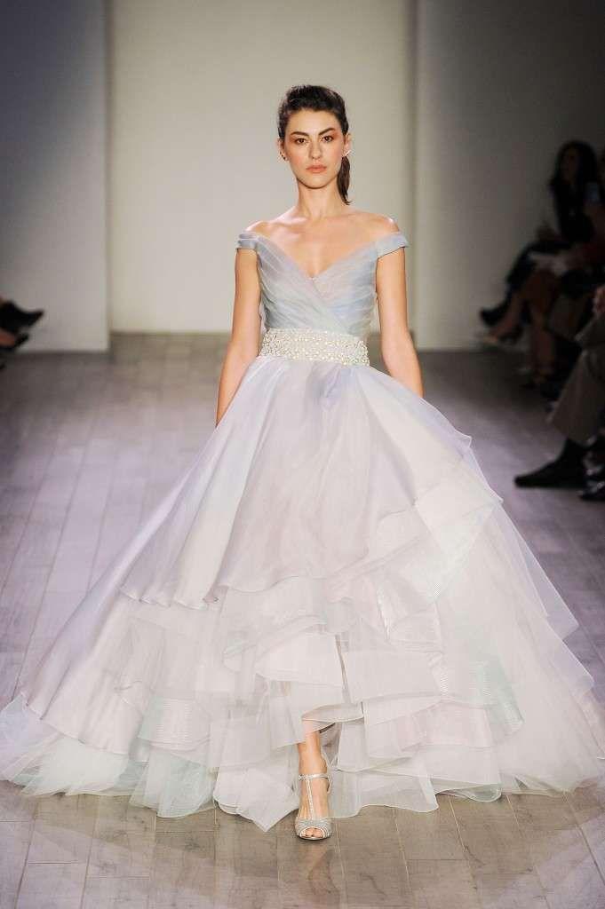 Abiti da sposa Lazaro collezione 2017 - Vestito da sposa turchese
