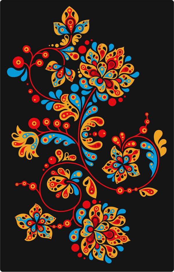 Flowers in different colors! I would LOVE this as a tattoo!!!