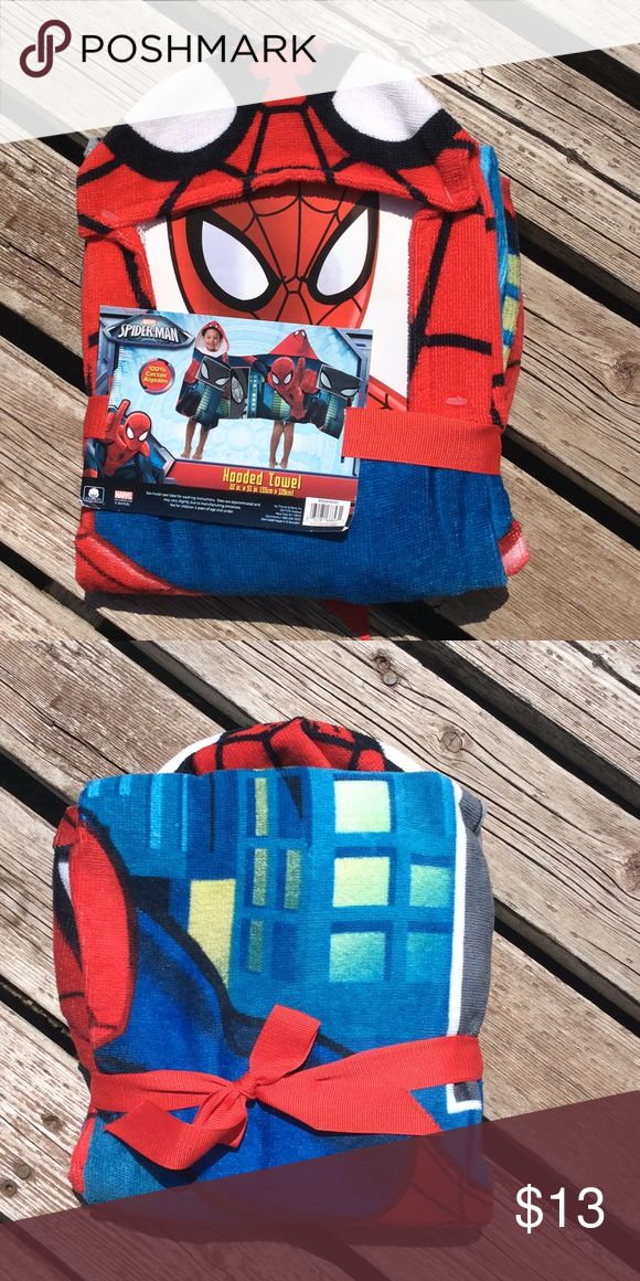 SPDER-MAN HOODED TOWEL SPIDER-MAN HOODED TOWEL 22 in. X 51 in. Marvel Other