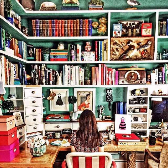Sarah Vicker's Office at Kiel James Patrick Factory. Perfection.