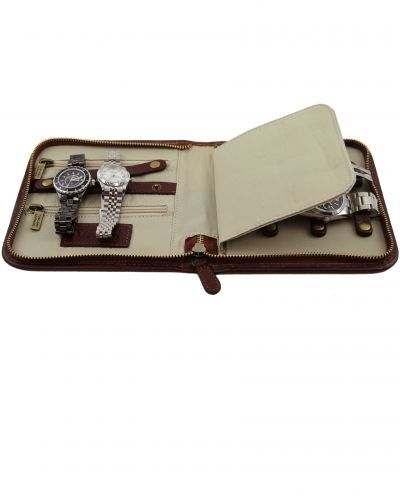 TL141292 Exclusive Travel Leather Watch Case