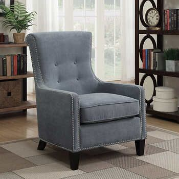 Riker Blue Accent Chair