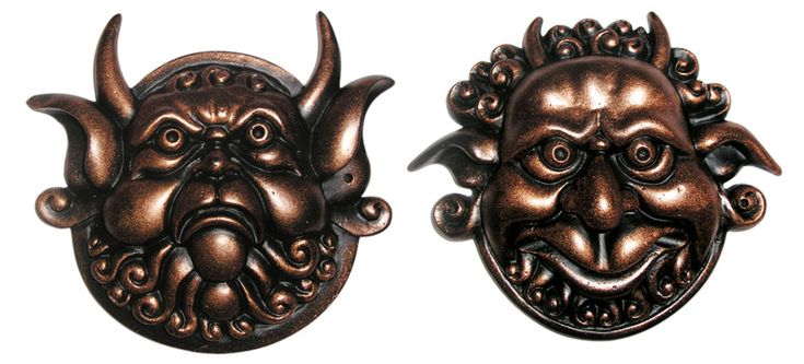 Labyrinth Mouth Holding And Deaf Door Knocker Faces (Set Of Two) From Jim Henson