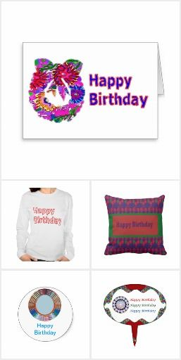 Happy Birthday text Gift collection