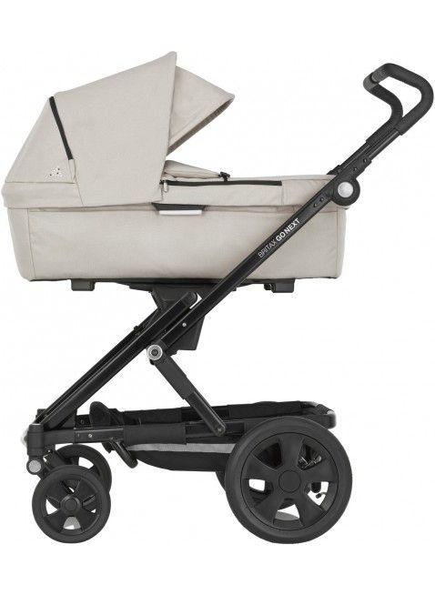 Britax Go Next Kinderwagen Set Schwarz/Beige Melange - Kleine Fabriek. Mehr Infos auf https://www.kleinefabriek.com/.