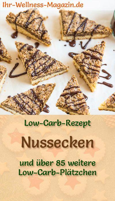 Low Carb Nussecken – einfaches Plätzchen-Rezept für Weihnachtskekse